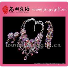 Fashion Jewelry Charming Gorgeous Brilliant Heavy Diamond Necklace Set