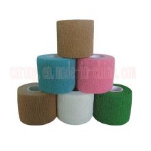 Disposable Medical Colored Cotton Bandage Self Elastic Adhesive