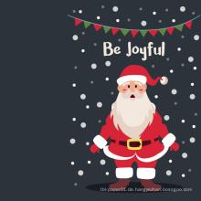 Kundenspezifische Gruß-Karten-frohe Weihnacht-Karte Santa frohe Weihnachten