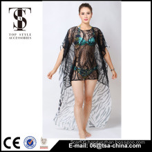 Top selling new fashion products 2016 Summer Ladies lace and chiffon patchwork sexy dress                                                                                         Most Popular