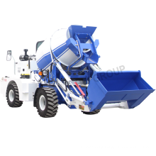 Automatic feeding mixing system 2.4M3  Small Self Loading Concrete Mixer Truck