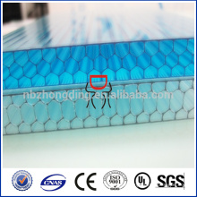 8mm 4 -wall honeycomb colored hollow PC polycarbonate sheet