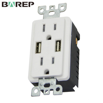Standard grounding china supplier gfci usb wall outlet sockets
