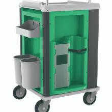 Hospital Nursing Medical ABS Emergency Trolley with Lock
