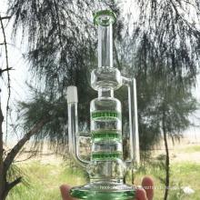 Tuyaux d'eau fumant en verre à tube creux Moonglade Design (ES-GB-291)