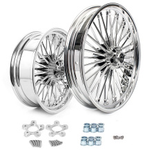 Hot Sale Front Rear Chrome Motorcycle Wheel Rims 16 inch 18 inch 21 inch Alloy Wheels for Harley Davidson