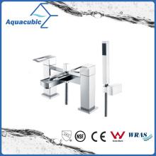 Chromed Double Holes Dual Handle Bathtub Faucet (AF3781-2A)