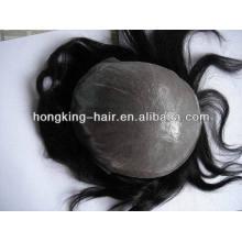 Heiß! Jungfrau-brasilianisches menschliches remy Haartoupee für Mannhaarersatz