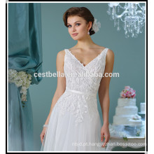 Venda quente Um vestido de casamento linha 2017 vestido de noiva de festa vestido de noiva Vestido de casamento de Guangzhou