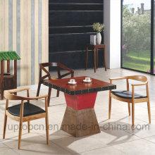 Китайский деревянная мебель ресторана комплект с креслом Кеннеди и квадратный стол (СП-CT700)