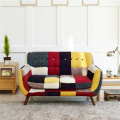 Mid-Century Replica 3pcs Patchwork Couch Armrest Sofas