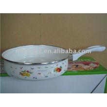 enamel fry pan with bakelite handle