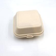 Hot Sell Sugarcane Bagasse Lunch Box Hamburger Box For Fast Food