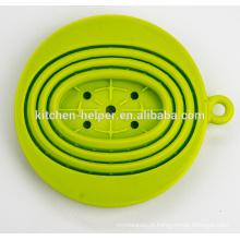FDA LFGB Padrão China Professional Fabricante Resistência ao calor Foldable Silicone Coffee Filter Filtro / Dripper / Filtro