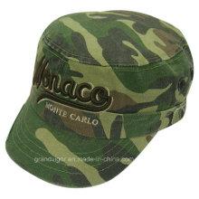 Camo Washed Army Hat with Custom Cuba Logo