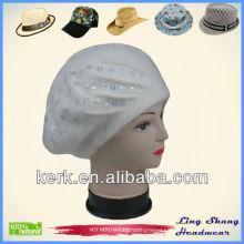 Angora and Wool Hat/Beautiful Girls' Beret angora beret hat wool beret girls beret angora beret angora rabbit price , LSA47