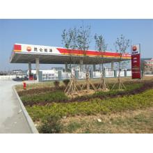 Prefabricated Gas Station Steel Frame Canopy