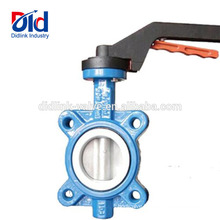 100mm With Tamper Switch Fisher 7600 Aluminum Handle Pn16 Butterfly Valve Design Standard Api 609