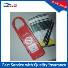 Tag personalizado da segurança do andaime do cor vermelho de PP de China