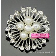Nuevas broches del diamante del estilo de la flor de la vendimia de la llegada