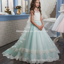 New fashion fairy western party wear baby girl dress heavey beaded laced flower girl dress patterns free for performance