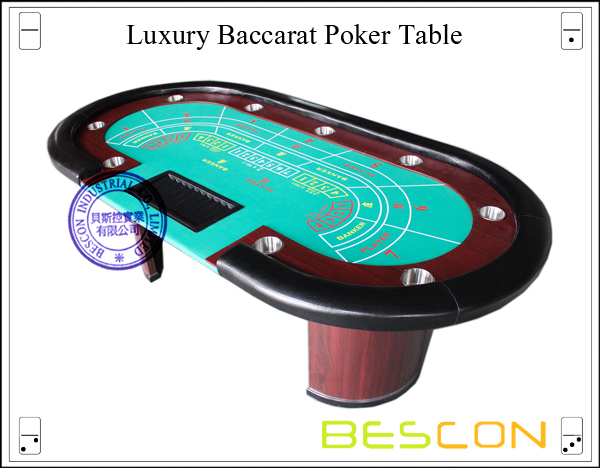 Luxury Baccarat Poker Table