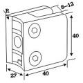Abrazadera de vidrio fundido a presión de acero inoxidable para el sistema de la barandilla (CR-052)