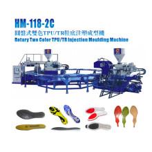 Máquina de inyección para hacer zapatos de suela en dos colores