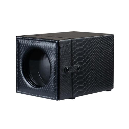 Watch Winder Display Black Snakeskin