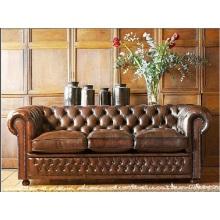 Sala de estar simples Europeu e sofá de couro de Hotel
