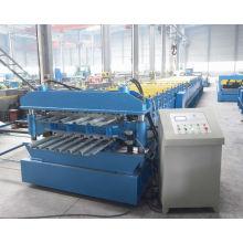 Galvanisé plancher acier double couche platelage profileuse usine machine