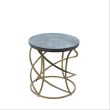 American-style classical stainless steel round side table