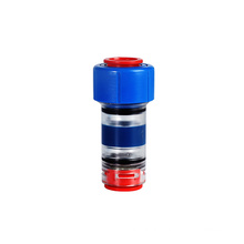 Blue plastic transparent micro duct gas water tight block connector