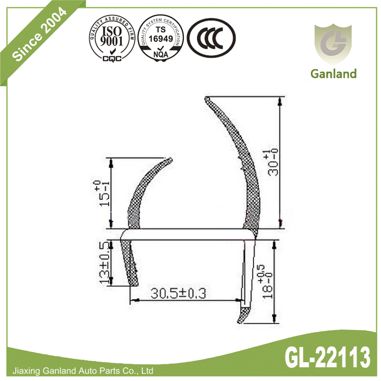 H Shape Sealing Strip gl-22113