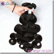No mezclado sin pelo sintético 100 paquetes de la onda del cuerpo del cabello humano indio de la Virgen Remy con el cierre del cordón