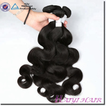 Aucun mélangé 100 paquets de vague de corps de cheveux humains de Remy de cheveux synthétiques vierges avec la fermeture de dentelle