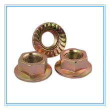 Porca de flange hexagonal de aço carbono (DIN6923)