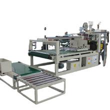 Semi-automatic corrugated cardboard box folding gluing machine for carton making