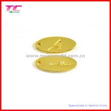 Tag de bijoux en métal d'or de haute qualité