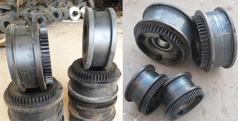 Crane running wheels