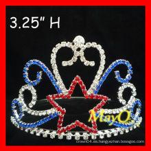 Pequeña corona de la tiara del desfile de la estrella del Rhinestone para los cabritos