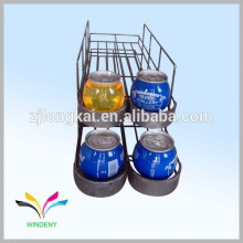 Exhibición de la bebida de la bebida del refresco del alambre de metal del contador del diseño del OEM