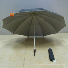 "19 ""* 8 k 2 Falte Regenschirm mit Silber beschichtet (YS2-001A)"