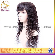 New Style Black Women Natural No-glue Lace Front Guangzhou Wig