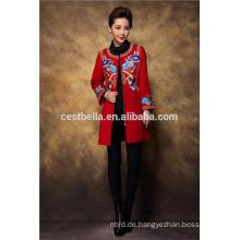 Elegante Frauen-Trenchcoat-lange Hülsen-Jacke Chinesischer traditioneller Outwear-Überzieher