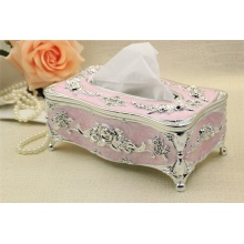 Romantische Retro Houten Carving Tissue Box