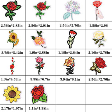 Applique Patch Rose Flower Stickerei Eisen auf Blume
