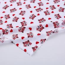 Оптовая торговля полиэфирным спандексом печати мультфильм Baby Knit ткани
