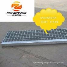 Galvanized steel grate stair tread