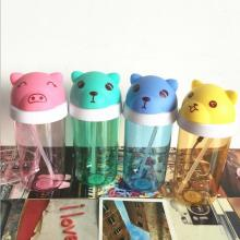 Baby Plastic Water Bottle with Cute Cartoon Cover